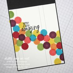 Dauber Fun! Click here to see the steps for making 3 cards fun card cards that pop with color with the help of sponge daubers…#stampyourartout - Stampin' Up!® - Stamp Your Art Out! www.stampyourartout.com