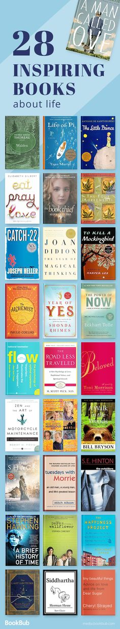 28 inspirational books for women, men, young adults, and more. Including self help, books with life lessons, some of the best motivational books, and more.