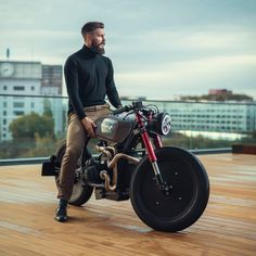 A very intriguing BMW with a retro-futuristic vibe from Holland's . Lamborghini, Ferrari, Porsche, Audi, Cafe Racer Bikes, Cafe Racer Motorcycle, Cafe Racers, Custom Bmw, Custom Bikes