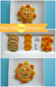 Kids DIY Sun Crackers: A fun and creative snack for kids to make themselves! on creativefunfood.com