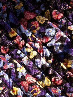 #3 OF 3    Up close detail of back of quilt, butterflies. Jenn-Alabama