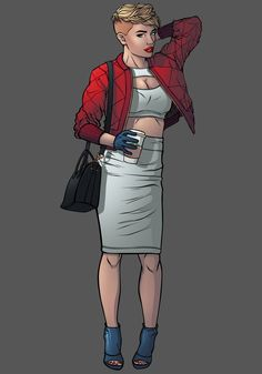 chrispandart:  Dc Fashion cosplay serie: Kara Zor-L aka Power Girl Don't forget If you want all of those fashion pinup go and help me get fund my artbook project  https://www.kickstarter.com/projects/1741342043/kicking-ass-and-wearing-heels-the-fashion-art-of-c/description