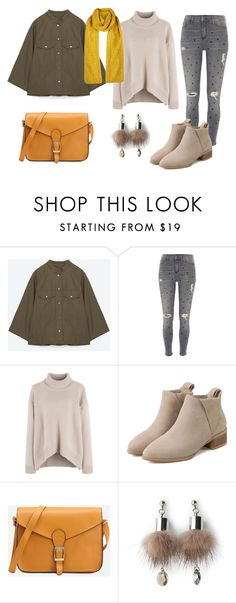 """look del dia"" by aliciagorostiza ❤ liked on Polyvore featuring River Island, Simons and Topshop"