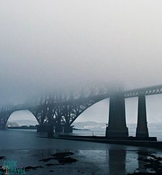This is Forth Rail Bridge not too far out of Edinburgh. I love how the mist of Scotland adds this eerie-ness and air of mystery.