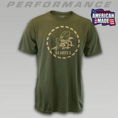 Navy Seabees Performance T- Shirt love it! I need to get one of these!