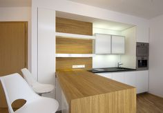 Kitchen by LUGI (architect: Hana Míková) www. Kitchen Furniture, Kitchen Interior, Cupboard Design, Design Kitchen, Interior Exterior, Interior Ideas, Kitchen Cupboards, Prefab, Countertops