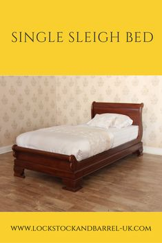 A single sleigh bed is ideal for a child's bed or for a spare bedroom. We have a variety to choose from including a single sleigh bed with trundle. Antique White Paints, Barrel Furniture, Sleigh Beds, Kid Beds, Bedroom Furniture, Hand Carved, Two By Two, Couch, Friends