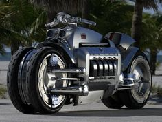 The Dodge Tomahawk a 500 hp 8.3 L V10 SRT10 engined superbike. Hand-built examples of the Tomahawk were offered for sale through the Neiman Marcus catalog at a price of US$ 555,000, and up to nine of them are believed to have sold.