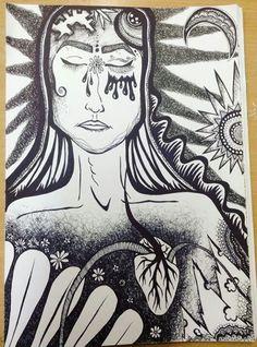 Illustration sadness depression pain woman cry heartbreak
