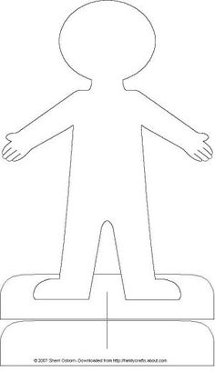 Paper Doll Accessories: Printable Paper Doll Body
