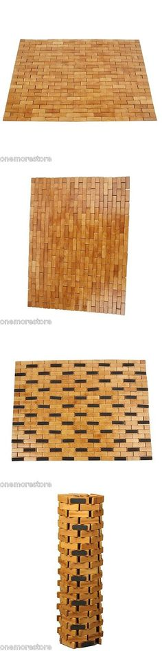Non-Slip Appliques and Mats 66722: Bath Shower Spa Mat Bamboo Natural Nonslip Foldable Bathroom Indoor Outdoor New -> BUY IT NOW ONLY: $38.41 on eBay!