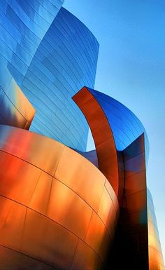Orange & Blue Abstract Futuristic Architecture, Amazing Architecture, Contemporary Architecture, Art And Architecture, Architecture Details, Chinese Architecture, Frank Gehry, Unusual Buildings, Amazing Buildings
