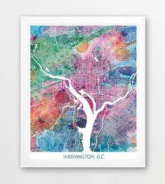 Trademark Fine Art Washington Dc Street Map 2 Canvas Art By