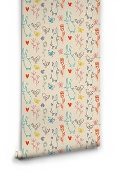 Summer Rabbits Wallpaper by Muffin & Mani for Milton & King