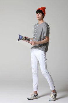 #KoreanFashion Korean Fashion Online, Korean Fashion Men, Asian Fashion, B Fashion, Korea Fashion, Fashion Outfits, How To Look Skinnier, Outfit Grid, Korean Outfits