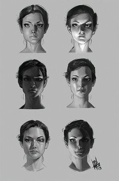 Face Drawing pinuparena: By Mel Milton - bad poetry society - Drawing Studies, Art Studies, Digital Painting Tutorials, Art Tutorials, Drawing Tutorials, Mel Milton, Figure Drawing, Drawing Reference, Pose Reference