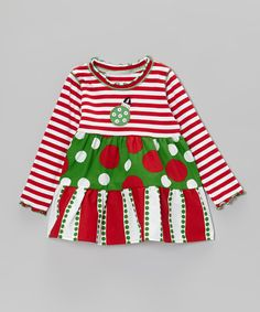 Red & White Christmas Swing Top