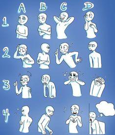 Cartoon Drawing Tips Expression sheet Drawing Reference Poses, Drawing Poses, Drawing Tips, Anatomy Reference, Drawing Techniques, Drawing Ideas, Character Drawing, Character Design, Drawing Face Expressions