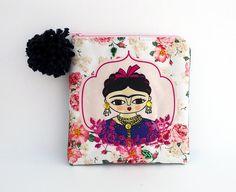Frida Kahlo rose purse, original illustration. By Chunchitos