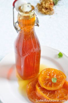 Syrop pomarańczowy deserowy Cooking Recipes, Healthy Recipes, Non Alcoholic Drinks, Beverages, Simple Syrup, Hot Sauce Bottles, Brunch, Food And Drink, Healthy Eating
