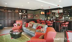 Theater room design pays tribute to Ohio State