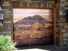 Amazing copper garage door!