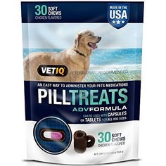 VetIQ Pill Treats Soft Chews for Dogs, Chicken Flavored 30 ea (Pack of - You could find more details by visiting the image link. (This is an affiliate link and I receive a commission for the sales) Dog Snacks, Dog Treats, Pet Supplements, Chicken Flavors, Yum Yum Chicken, All Dogs, Dog Love, Your Pet