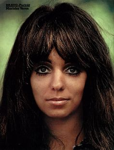 A portrait of Mariska Veres (Bravo 1971) - Mariska Veres Shocking Blue  - #junkydotcom Nederland Holland The Netherlands