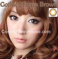 Gothic 3 Tones - Brown color circle lens. | Shop @ ContactLensHouse.com