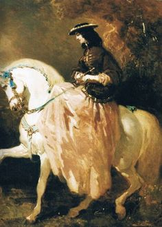 Unidentified equestrian portrait, Alfred de Dreux, attr. bef. 1860 | In the Swan's Shadow