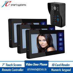 288.00$  Buy now - http://aliddh.worldwells.pw/go.php?t=32498853492 - 1v3 Smart home intercom system wired video doorphone HD camera doorbell with ir infrared & doorbell for front door security