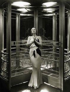 Joan Crawford and Art Deco revolving door.