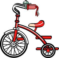 Clip Art of a Tricycle - © Dixie Allan Car Bike Rack, Tricycle Bike, Bicycle Safety, New Bicycle, Motocross Bikes, Racing Motorcycles, Motorbike Clothing, Bike Boots, Bike Shelf