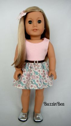 Cherry Blossom Dress  American Girl Doll Clothes by BuzzinBea