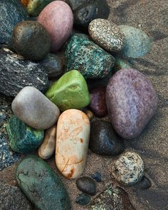 River Rocks.  Where  are  these  rocks  from,    need  to  visit,  looove  rocks.