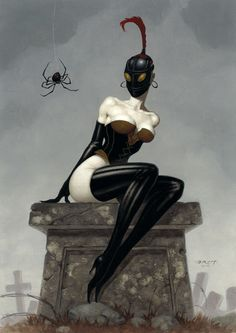MISS MUFFET by Brom