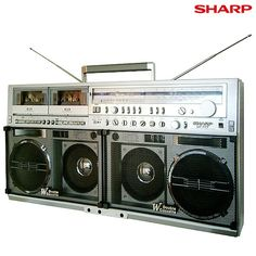 Vintage Boombox SHARP GF-777.....................Please save this pin. .............................. Because for vintage collectibles - Click on the following link!.. http://www.ebay.com/usr/prestige_online