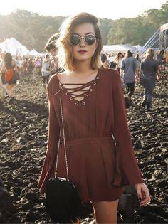look festival com macaquinho