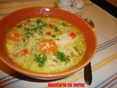 Ciorba de pui cu legume si zdrente de ou - Bucataria cu noroc Cheeseburger Chowder, Food, Essen, Meals, Yemek, Eten