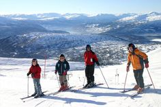 Stryn Winter Ski - also great for families! Winter Activities, Winter Fun, Norway, Skiing, Families, Backdrops, Scenery, Around The Worlds, Adventure