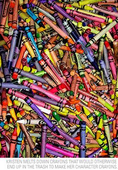 Opening the box and smelling those new crayons - heaven!