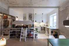 home - Swedish architect Karin Matz renovated the Home, a compact Stockholm apartment, for herself. Tiny Apartments, Tiny Spaces, Awesome Apartments, Studio Apartments, Apartment Renovation, Apartment Design, Apartment Layout, Apartment Interior, Small Space Living