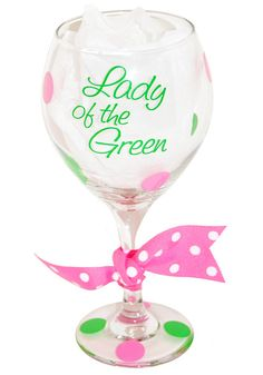 Golf Wine Glass Handpainted Personalized Would be awesome on a ...