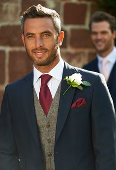 ❤ 37 fall groom style ideas that are cooler than cool 18 Groomsmen Outfits, Groom And Groomsmen Attire, Groom Outfit, Navy Groom, Navy Suits Groomsmen, Fall Groom Attire, Groom Tux, Fall Wedding Suits, Wedding Groom