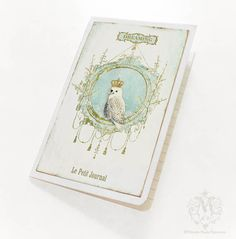 Owl Notebook, Winter Woodland, Dreaming, Cahier, White, Christmas, Journal, Lined Notebook. $10.00, via Etsy.