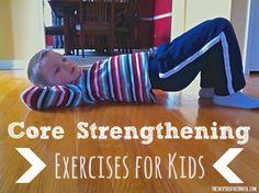 core strengthening exercises for kids from inspired Tree House