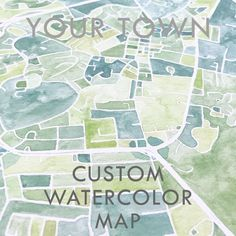 Custom Watercolor Art Map YOUR TOWN Block Plan (Original Watercolor Commission) Painting Wedding Gift Anniversary Graduation Wedding Anniversary Gifts, Wedding Gifts, Block Plan, Watercolor City, Map Maker, Block Painting, Thing 1, Georgetown Washington, Washington Dc