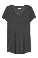 <p>The China ss Tee is a super soft tee with a ribbed texture, made from a viscose and wool blend. A deep, round neckline and short sleeves, this tee has a curved hemline with a slightly longer back.</p><p>- Size Small measures 92 cm in chest circumference and 70 cm in length from shoulder. The sleeve length is 15 cm.</p>