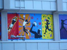Gym mural segment