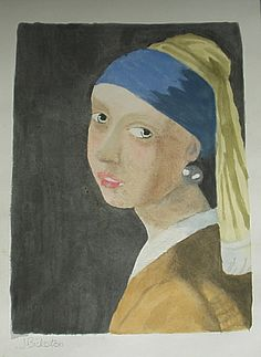 "after ""Girl With a Pearl Earring"" by Vermeer"